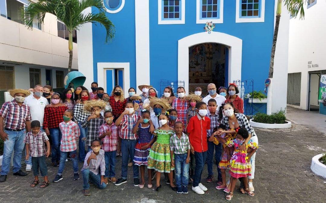 Alegria e Diversão na festa Junina no Forró Infantil da OAF Salvador